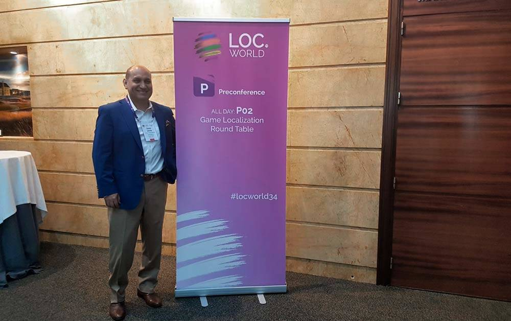 CEO David Utrilla at LocWorld 34 in Barcelona