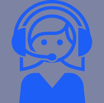 Female Interpreter With Headset Blue