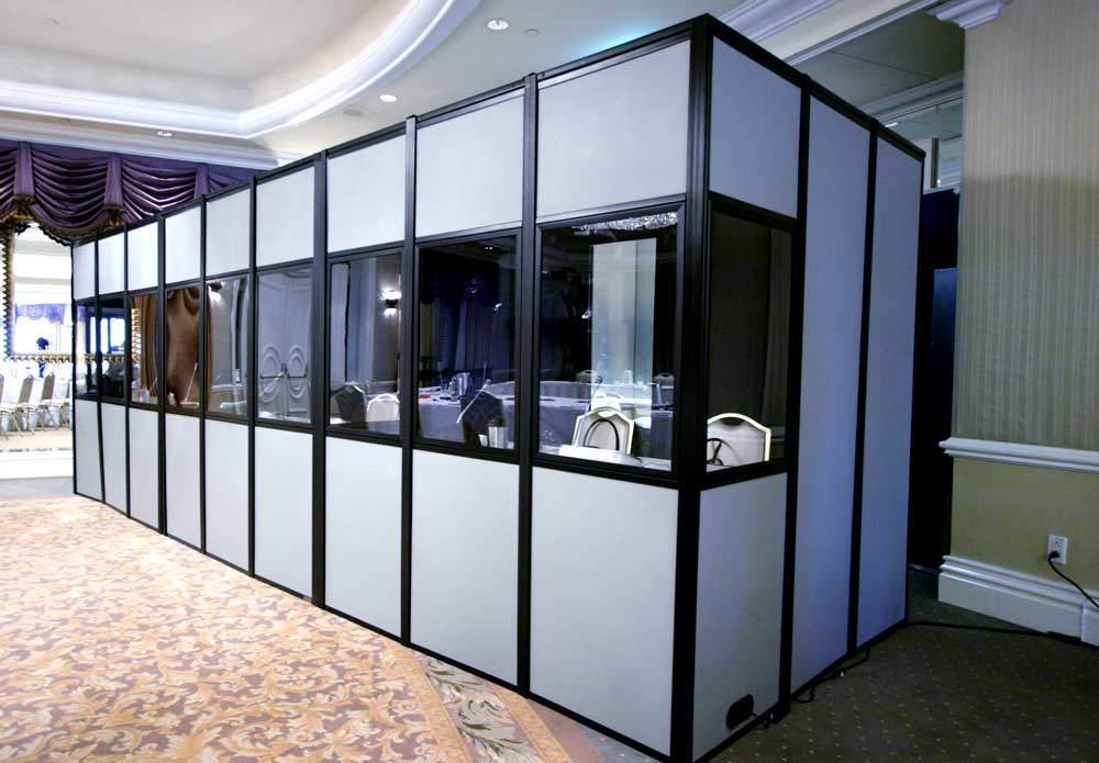 Soundproof Booth For Interpreters During Large Conventions